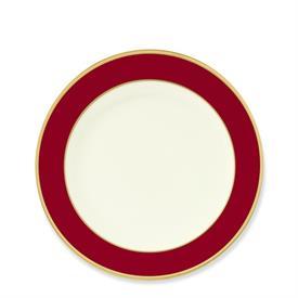 _COLORBURST RED & GOLD SALAD PLATE. MSRP $44.00