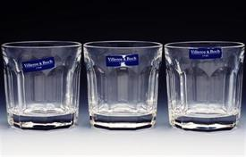 "_VILLEROY & BOCH ""BERNADOTTE"", SET OF 6 WHISKEY OLD FASHION GLASSES. REGULAR PRICE $192"