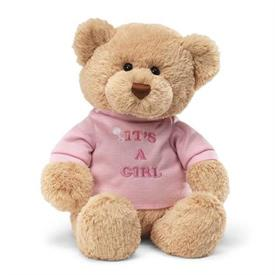 -,IT'S A GIRL T-SHIRT BEAR. 12""