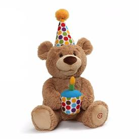 -,HAPPY BIRTHDAY BEAR SINGS AND MOVES  HEAD AND MOUTH