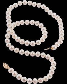 "-7MM Pearls 20"" with 14K clasp  WAS: $199"