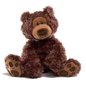 "-,'PHILBIN' BEAR IN CHOCOLATE BROWN. 18"" TALL"