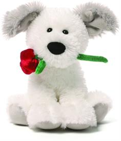 "_:DEMARCO VALENTINE'S CHATTERING DOG, 5"" TALL. SAYS 'I LOVE YOU' WHEN YOU SQUEEZE HIS TUMMY."