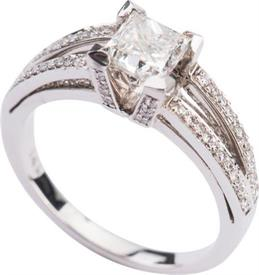 -.75 Carat SI2 Clarity I Color Princess Square Cut Diamond in White Gold  Was $2,419