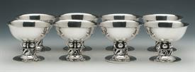 ",SET OF 8 SHERBERT/ICE CREAM CUPS STERLING SILVER DESIGNED BY LA PAGLIA FOR INTERNATIONAL SILVER CO. 44 TROY OUNCES 3.5"" HEIGHT"