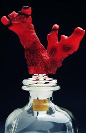 """_DT3000 decanter coral stopper 7""""in length a twist seals the decanter stopper"""