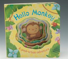 _HELLO MONKEY CUTOUT BOARD BOOK