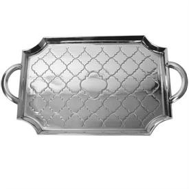 "-Casablanca serving tray aluminum large 23 1/4""x 13"""