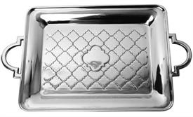 -Casablanca serving tray medium aluminum 19.5x12""