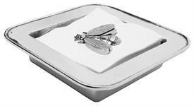 "-Corsica napkin box 8x8"" aluminum"