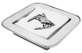 """,-Crab napkin box aluminum 8x8"""""""