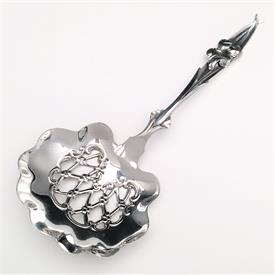 ",WHITING BON BON SCOOP WITH FIGUREAL FLOWER HANDLE. .45 TROY OZ STERLING SILVER, 4.75"" LONG. CA. 1880-1910"