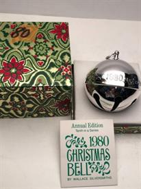 ,1980 SLEIGH BELL W BOX  SILVER PLATED