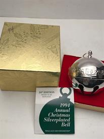 ,1994 SLEIGH BELL W BOX SILVER PLATED
