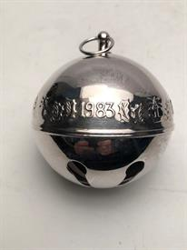 ,1983 SLEIGH BELL NO BOX SILVER PLATED