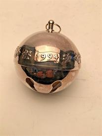 ,1994 SLEIGH BELL NO BOX SILVER PLATED