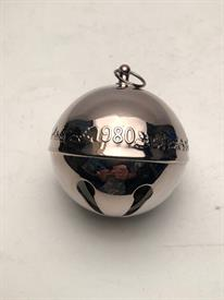 ,1980 SLEIGH BELL NO BOX SILVER PLATED