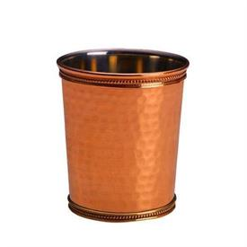 ",_SOLID COPPER HAMMERED JULEP CUPS BEADED TOP AND BOTTEM 3.75""IN HEIGHT 3.25""ACROSS TOP"
