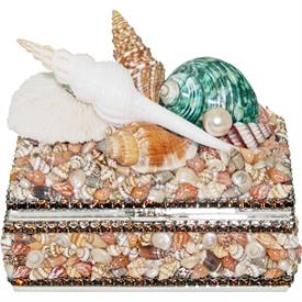 -,B-617T TOPAZ CRYSTAL AND SEA SHELL BOX. 4.75""