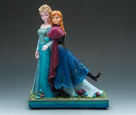 ",_FROZEN. ANNA & ELSA MUSICAL FIGURINE. 8"" TALL"