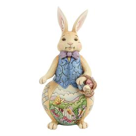 """_,EASTER BUNNY WITH SCENE. 9.4"""" TALL, 4.4"""" WIDE"""