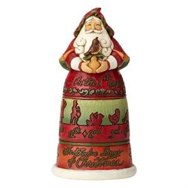 "_,10.5"" 12 DAYS OF CHRISTMAS SANTA FIGURINE"