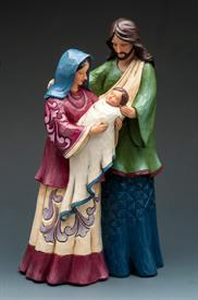 ,_3 FIGURES, 1 PIECE HOLY FAMILY