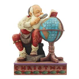 "_,'SANTA WITH GLOBE' SATURDAY EVENING POST NORMAN ROCKWELL PIGURINE. 6.9"" TALL, 4.2"" WIDE, 5.4"" LONG."
