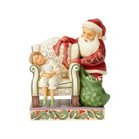 "_,SANTA BEHIND CHAIR 'SATURDAY EVENING POST' NORMAN ROCKWELL FIGURINE. 7.4"" TALL, 4.7"" WIDE, 5.9"" LONG"
