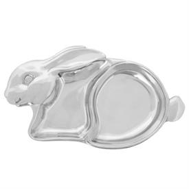 "-,BABY BUNNY DIVIDED PLATE. 9.5"" LONG, 6"" WIDE, 1"" DEEP"