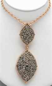 "-18"" GOLD PLATED WITH CRYSTAL PENDANT"