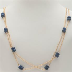 _EXTRA LONG GOLD CHAIN WITH LAPIS LAZULI BEADS
