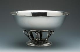 ",MUECK-CARY CO. GEORG JENSEN STYLE BOWL MADE 1940-1950 IN NEW YORK, NY. 21.90 TROY OUNCES 10.25"" X 5.5"" TALL EXTRAORDINARY PIECE!"