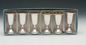 ",WEB STERLING CORDIAL SET OF 6. IN ORIGINAL BOX. EACH MEASURES 3 1/8"" TALL"