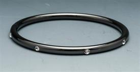 -BANGLE BLACK TONE RHODIUM WITH CRYSTALS