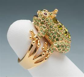 -SIZE 8 FROG RING GOLD PLATED
