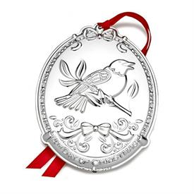 _4TH EDITION FOUR CALLING BIRDS 12 DAYS OF CHRISTMAS SILVER PLATE ORNAMENT