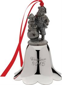 _24TH EDITION SANTA BELL PEWTER