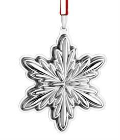 ",_X312 HOLIDAY SNOWFLAKE, 3RD EDITION. STERLING SILVER. 3"" HIGH PRICE REDUCED ON 11-24-15 FROM $101.25"