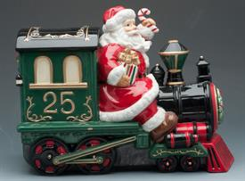 _COOKIE JAR SANTA ON TRAIN