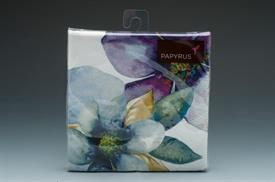 """-BLUE & PURPLE FLOWERS. 20 COUNT. 5""""x5"""" 3-PLY BIODEGRADABLE NAPKINS PRINTED WITH WATER BASED INK. NO CHLORINE WAS USED IN BLEACHING"""