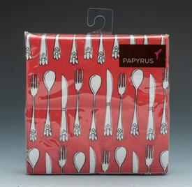 """-FLATWARE DESIGN. 5""""x5"""". 20 COUNT. PRINTED WITH WATER BASED INK ON 3-PLY BIODEGRADABLE PAPER. NO CHLORINE WAS USED IN THE BLEACHING PROCESS."""