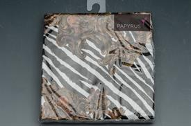 """-GOLD BAROQUE/ZEBRA. 5""""x5"""". 20 COUNT. 3 PLY BIODEGRADABLE PAPER."""