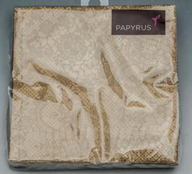 """-GOLD LACE DESIGN. 5""""x5"""". 20 COUNT. 3 PLY BIODEGRADABLE PAPER."""
