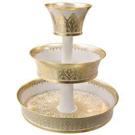 "-3-TIERED EPERGNE. 20"" TALL, 18"" WIDE"