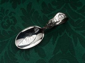 "BENT HANDLED BABY SPOON STERLING SILVER 3.6"" LONG BIG ENGAVED ""MB"" MONOGRAM IN BOWL"