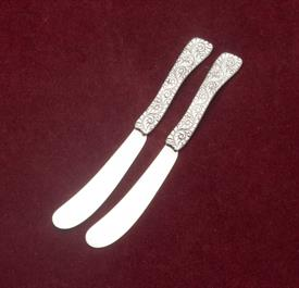 ",SET OF 2 BUTTER SPREADERS MONOGRAMMED ""D""  MARKED STERLING 5706"