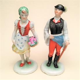 ",PEASANT BOY AND GIRL 5.75""T INCISED 5812 & 5811 WITH HEREND LOGO AND STAMP"