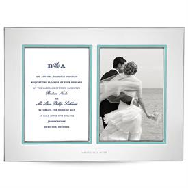 -DOUBLE INVITATION FRAME. 2 5X7 SIDES.