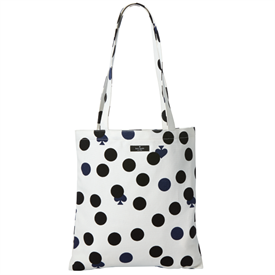 "_LIMITED EDITION DOT CANVAS TOTE BAG. 25"" (INCLUDES 11"" DROP) X 13"" ACROSS."